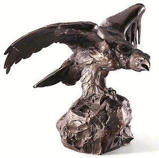 """Skulptur """"Steinadler"""", Kunstbronze"""