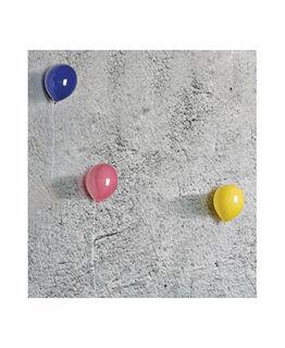 "Wandobjekt ""Ballon blau"", Keramik"