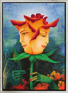 "Bild ""Harmonie der Rose"" (2020) (Original / Unikat), gerahmt"