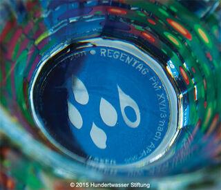 (Set B) 2 Regentag-Wassergläser mit Buch (ohne Karaffe)