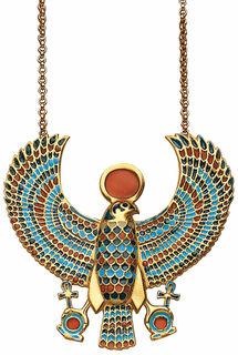 """Anhänger """"Falken-Pektoral des Tutanchamun"""" mit Kette"""