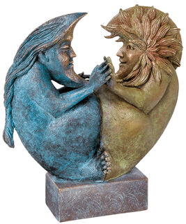 """Skulptur """"Sun & Moon II"""", Bronze"""