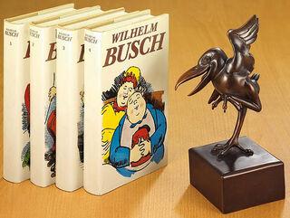 "Skulptur ""Tanzender Hans Huckebein"", Metallguss"