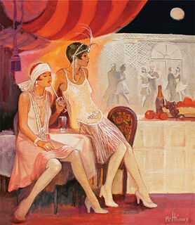 "Bild ""Au Claire de la Lune Nr. 81"", auf Keilrahmen"