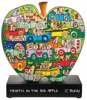 """Porzellanobjekt """"Traffic in the big apple"""""""