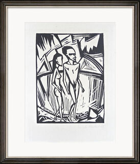"""Bild """"Zwei am Meer"""" (1920)"""