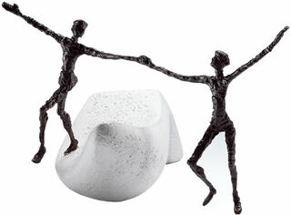 """Skulptur """"Ich danke dir"""" (2009), Bronze auf Steinguss"""
