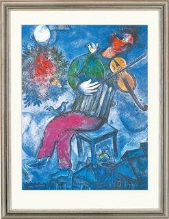 """Bild """"Le Violoniste Bleu"""" (1947), gerahmt"""