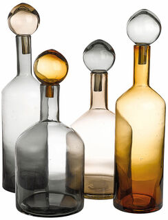 """8-teiliges Flaschenset """"Bubbles & Bottles"""", grau/braune Version"""