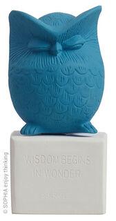 """Skulptur """"Eule blau"""""""