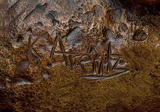 """Skulptur """"Eisbär"""", Bronze"""