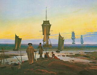 """Bild """"Die Lebensstufen"""" (1835), auf Keilrahmen"""