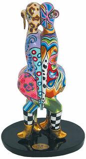 """Sternzeichen-Skulptur """"Zwilling/Gemini"""" (21.5.-21.6.), Kunstmarmor handbemalt"""
