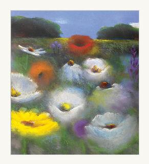 """Bild """"Blumenlandschaft"""", ungerahmt"""