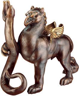 """Skulptur / Leuchter """"Greif und Schlange"""" (2006), Version in Bronze"""