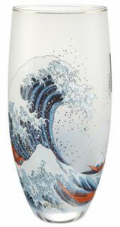 """Glasvase """"Die große Welle vor Kanagawa"""""""