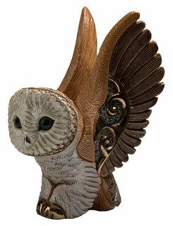 """Keramikfigur """"Eule im Flug"""""""