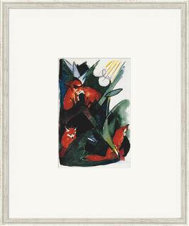 "Bild ""Vier Füchse, Postkarte an Wassily Kandinsky"" (1913), gerahmt"