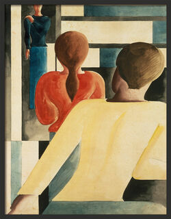 """Bild """"Interieur in Blau, Gelb und Rot"""" (1931), gerahmt"""