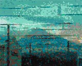 """Bild """"50 Ansichten des Berges Fuji_vom Zug aus betrachtet, Nr. XXIX"""" (2010) (Unikat)"""