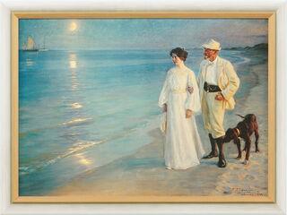 """Bild """"Sommerabend bei Skagen - Der Künstler und seine Frau"""" (1899), gerahmt"""