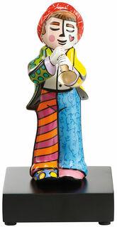 """Porzellanskulptur """"Trompeter"""", kleine Version"""
