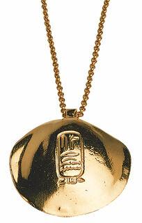 """Anhänger """"Goldene Muschel des Königs Sesostris"""" mit Halskette"""