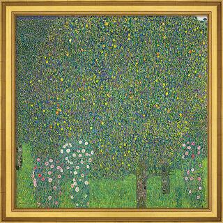 "Bild ""Rosensträucher unter Bäumen"" (1905), gerahmt"