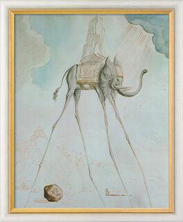 """Bild """"L'Éléphant Giraffe"""" (1948), gerahmt"""