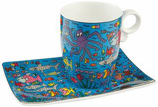 """Kaffeetasse """"Under the deep blue Sea"""", Porzellan"""
