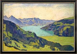 """Bild """"Thunersee von Breitlauenen aus"""" (1906), gerahmt"""