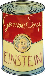 """Wandobjekt """"German Soup - Einstein"""" (2019) (Unikat), Emaille"""