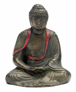 "Buddha-Skulptur ""Meditierender Amida"", Kunstbronze"
