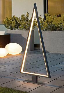 "LED-Lichtobjekt ""Triangle Tree"" (große Version, Höhe 160 cm), Version Aluminium"