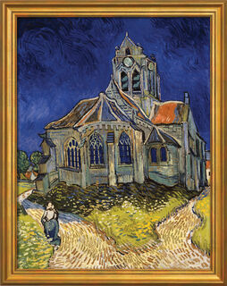 "Bild ""Kirche von Auvers-sur-Oise"" (1890), gerahmt"