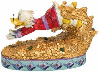 """Skulptur """"Treasure Dive Scrooge McDuck"""", Kunstguss"""