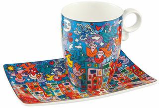 """Kaffeetasse """"City Birds"""", Porzellan"""