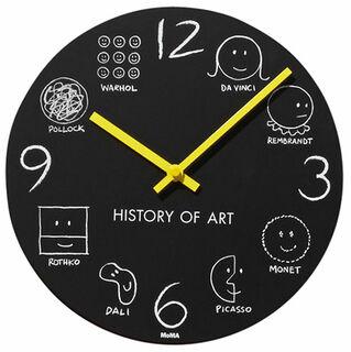 "Wanduhr ""History of Art"" - MoMA Kollektion - Design Donald Seitz"