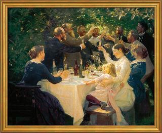 """Bild """"Künstlerfest bei M. und A. Ancher"""" (1888), gerahmt"""