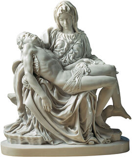 "Skulptur ""Pietà"" (1489-99), Reduktion in Kunstmarmor"