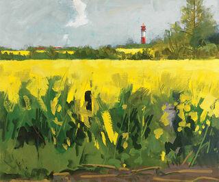 """Bild """"Rapsfeld I (Gelb leuchtet bei Nieby)"""" (2009), auf Keilrahmen"""