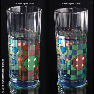 (Set A) 2 Regentag-Wassergläser mit Buch (ohne Karaffe)