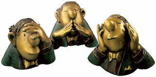 "Skulpturen ""Die drei Charakterköpfe"", Version in Bronze"