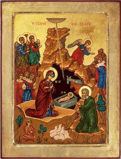 "Bildikone ""Die Geburt Christi"", gerahmt"