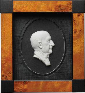 "Miniatur-Porzellanbild ""Johann Strauss"", gerahmt"