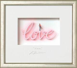 "3D-Bild ""Love"", gerahmt"