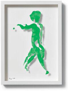 """Bild """"Einblick (grün)"""", 2010"""