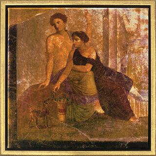 """Wandmalerei aus Pompeji: Bild """"Zwei Frauen"""", gerahmt"""