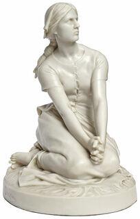 """Skulptur """"Jeanne d'Arc"""" (um 1880), Version in Steinguss"""