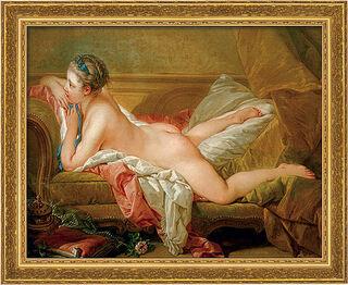 """Bild """"Ruhendes Mädchen"""" (1752), gerahmt"""
